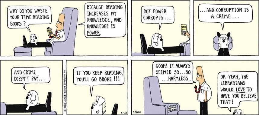 Knowledge is Power by Dilbert